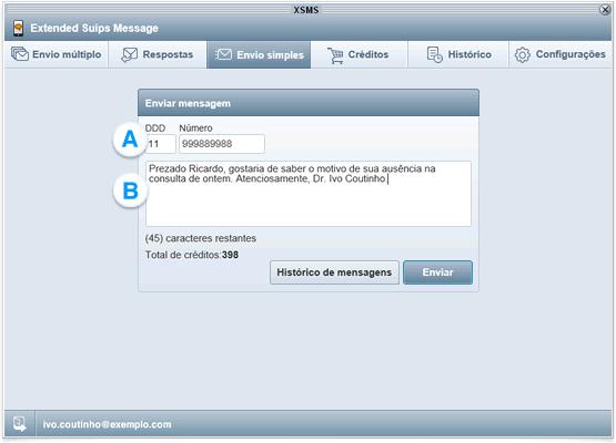 Mensagem simples XSMS